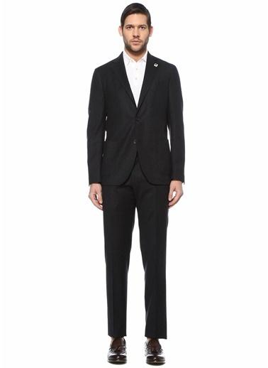 Lardini Lardini  Çizgili Yün Takım Elbise 101627491 Gri